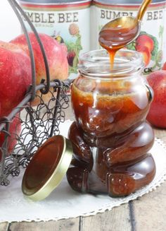 This Apply Cider Syrup can take a little time, however, the result—a thick, tangy, sweet syrup the consistency of honey—is worth the wait. Apple Recipes, Fall Recipes, Syrup Recipes, Apple Cider Syrup Recipe, Chutney, Homemade Syrup, Dairy Free Eggs, Egg Free, Liqueur