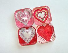 Valentine Hearts Glass Magnets Set of 4 for glass, magnets, adhesive: http://www.ecrafty.com/c-81-craft-supplies.aspx