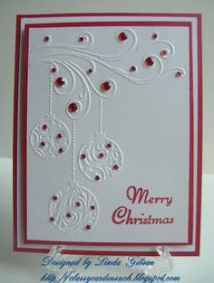 Classy Cards 'n Such: Unto Us a Child is Born - Crafts Too Swirl Baubles EF