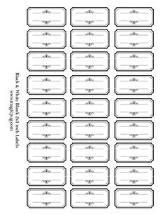 Black and White Blank Labels digital collage sheet x kitchen editable PDF organ Book Labels, Jar Labels, Printable Labels, Free Label Templates, Ticket Template, Labels Free, Kitchen Labels, Selling Handmade Items, Congratulations Graduate