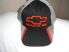 Chevy Racing w/Red Bow Tie on a New Ballcap w/tags w/free shipping