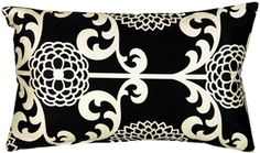 The Waverly Fun Floret Licorice Throw Pillow from Pillow Decor is a beautiful stylized floral print pattern in black and soft cream. Leather Throw Pillows, Orange Throw Pillows, Buy Pillows, Floral Throw Pillows, Throw Pillow Sets, Outdoor Throw Pillows, Toss Pillows, Lumbar Pillow, Cotton Pillow