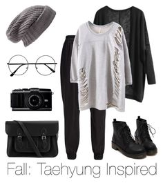 """Fall: Taehyung Inspired"" by btsoutfits ❤ liked on Polyvore featuring BCBGeneration, The Cambridge Satchel Company and Treasure & Bond"