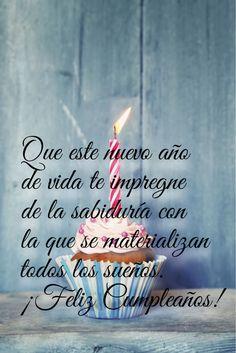 Spanish Birthday Wishes, Happy Birthday Wishes, Birthday Greetings, Happy Birthday Posters, Birthday Quotes, Spanish Prayers, Happy Brithday, Good Day Quotes, Birthday Letters