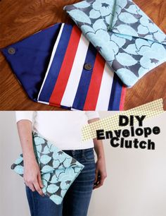 Sew easy- DIY clutch. I whip one of these up to go with something new if I don't have a purse that is right!!!