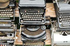 Amanda Soule's typewriters from Brimfield. I am in love!