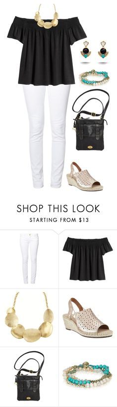 """""""Date Night"""" by autumnfever ❤ liked on Polyvore featuring even&odd, Chloe + Isabel, Clarks and FOSSIL"""