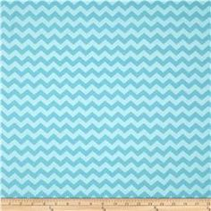 Riley Blake Cotton Jersey Knit Small Chevron Tone on Tone Aqua