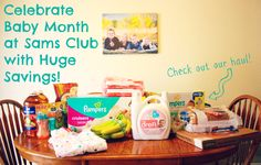 Celebrate baby month at Sams Club with this $50 GIVEAWAY!