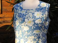 Pretty Turquoise Daisy Summer Shift Dress by Petticoatjanevintage, £16.00