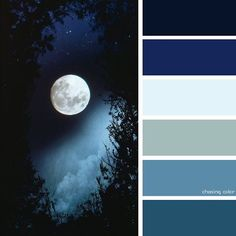 Shades Of Moonlight (Photo Credit • gothdolly.tumblr.com) #chasingcolor #colorthemes #colorful #color #palette #colorpalette #shades #tones #hues #colorinspiration #inspiration #creative #art #photography #design #theme #moon #moonlight #night #sky #nightsky #nighttime #trees #stars