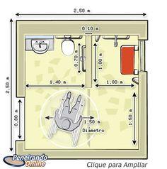 Planta Baixa - Banheiro modelo 1