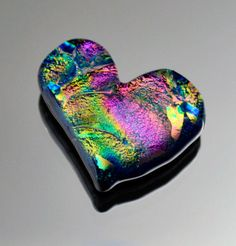 Heart Cabochon Dichroic Heart Cabochon Jewelry Cab Stunning