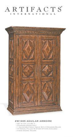Kenya Armoire. #custom #handmade #designer #furniture Hand-carved ...