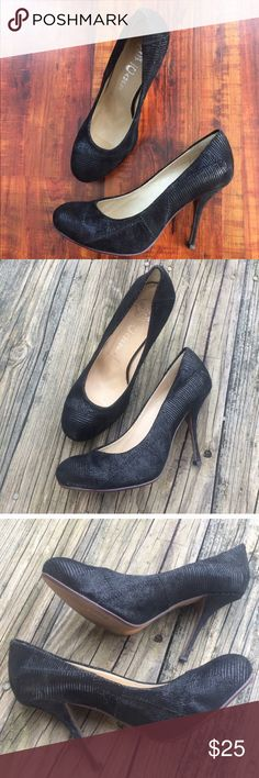 Jeffrey Campbell Black Heels Size 9 Gorgeous pair of black heels/pumps from Jeffrey Campbell. Photo shows the textured design. They have been worn a few times but are in good condition! Size 39 which compares to a size 9. Jeffrey Campbell Shoes Heels