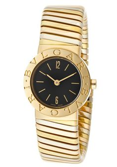 Bvlgari Black Dial 18kt Tri-Color Gold Ladies Watch BB232TYWP $7752.00 #BulgariWatches