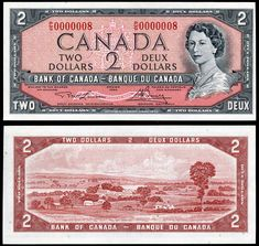 1954 $2 Bank of Canada Note # 8 Old Coins, Rare Coins, Coin Collection Value, Canadian Things, Valuable Coins, Coins Worth Money, Coin Worth, Coin Values, Canadian History