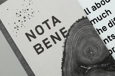 Brand identity and menu for Toronto restaurant Nota Bene by graphic design studio Blok, Canada
