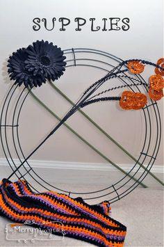My Merry Messy Life: Halloween Crochet Wreath