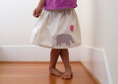 elephant skirt Oliver + S lazy days skirt