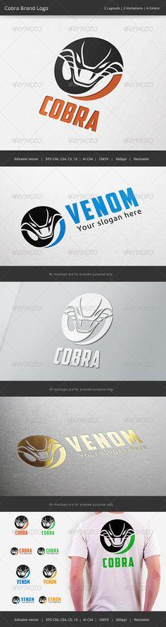 Team Logo, Cobra Snake, Game Logo Design, Snake Venom, Vintage Logo Design, Graphic Design, Team Games, Portfolio Logo, Geometric Logo
