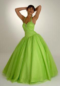 I really like this one. I'd like to wear a lime green dress.