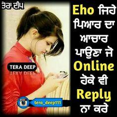 Girly Quotes, Happy Quotes, Me Quotes, Attitude Status, Attitude Quotes, Desi Love, Punjabi Funny, Funny Qoutes, Punjabi Quotes