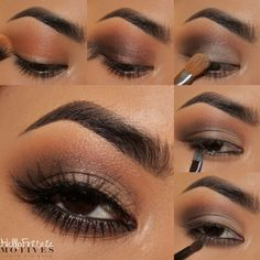 Motives® In the Nude – Includes six Eye Shadows, one Lip Shine, one Bronzer and two Tutorials - Makeup Tutorial Smokey Simple Eye Makeup, Eye Makeup Tips, Cute Makeup, Makeup Goals, Skin Makeup, Eyeshadow Makeup, Makeup Ideas, Khol Eyeliner, Eye Base
