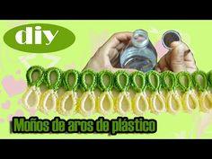#Moños de #Aros de plástico de #botella de agua