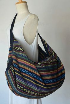 Nepali Fabric Design Hippie Shoulder Bag Gypsy Bag by Dollypun