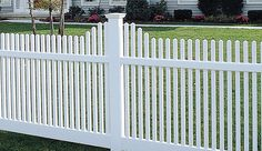 Affordable PVC picket fences for do-it-yourself homeowners. Save on DIY vinyl picket fence panels. Get expert advice on vinyl fence installation for DIY. Vinyl Picket Fence, Picket Fence Panels, Vinyl Fencing, Gate Operators, Outdoor Living Areas, Fence Design, Concave, Backyard, Outdoor Structures
