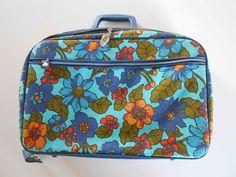 Vintage Mod Suitcase Aqua Blue. $18.00, via Etsy.