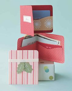 Fresh bills stay crisp in these colorful paper wallets that double as gift box and card.
