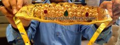 Jewellery Designs: 170 Grams Sparkling Vaddanam