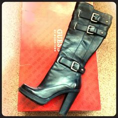 💥FLASH SALE💥 Guess boots Guess boots, buckles, inside zip, round toe, only worn a couple times!                                                                                                                Note I will not be sending in original box!!!! Guess Shoes