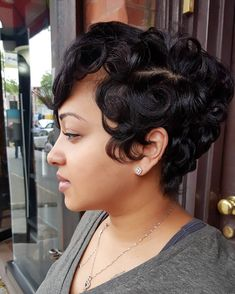 Black Pixie Cut for Thick Hair - 20 Sassy and Sexy Black Pixie Cuts - The Trending Hairstyle Short Sassy Hair, Short Hair Cuts, Pixie Cuts, Short Human Hair Wigs, Short Pixie, Curly Hair Styles, Natural Hair Styles, Pixie Hairstyles, Haircuts