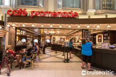 Cafe Promenade on Navigator of the Seas, (open 24 hours a day) is a good spot for a quick breakfast, lunch or snack. Located on the Royal Promenade on Deck this no-fee sidewalk cafe is also ideal for people-watching. Cruise Miami, Cozumel Cruise, Jamaica Cruise, Cozumel Mexico, Nassau Bahamas, Southern Caribbean Cruise, Eastern Caribbean Cruises, Western Caribbean, Empress Of The Seas