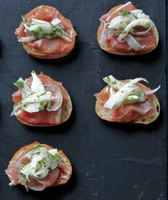 Top prosciutto with a crunchy fennel slaw to create this party classic.