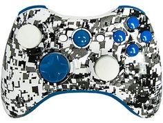 Master Modded Controller Xbox 360 In Custom Blue White