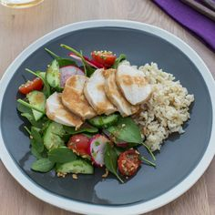 My Food Bag - Nadia Lim - Recipes - Thai Poached Chicken Salad and Brown Rice Poached Chicken, Gluten, Brown Rice, Chicken Salad, I Foods, Cobb Salad, Clean Eating, Motivation, Bag