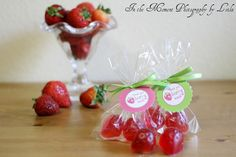 STRAWBERRY SOAP FAVORS (20 Soaps) - Strawberry Shortcake Inspired Favor, Birthday Party Favor, Baby or Bridal Shower Summer Favor