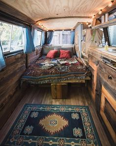 Custom camper van conversion interior