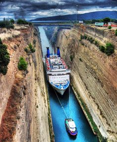 Corinth Canal, Greece | 129 Places Worth Visiting Once in a Lifetime