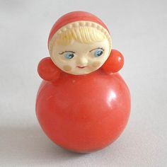 A different kind of Roly Poly (vintage roly poly ding doll from Russia)