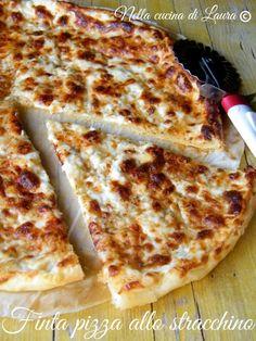 finta pizza allo stracchino - nella cucina di  laura