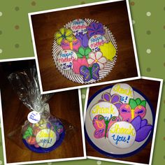 Adorable Mother's Day and Thank You sugar cookies