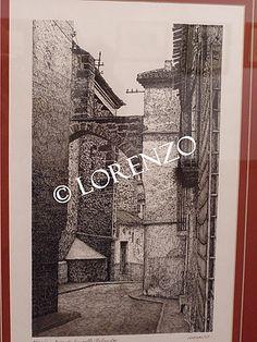 Hellin, Arco Calle Salvador. Dibujo a plumilla sobre papel