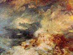 Turner, Joseph Mallord William: Feuer auf dem Meer (Fire at Sea)