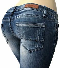 Machine Jeans Women Size 27 x 32 Skinny Distressed Destroyed Blue Denim #MachineJeans #Skinny