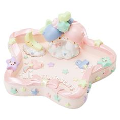Little Twin Stars Kiki Lala Jewelry Storage Tray Jewelry Dish Star SANRIO JAPAN